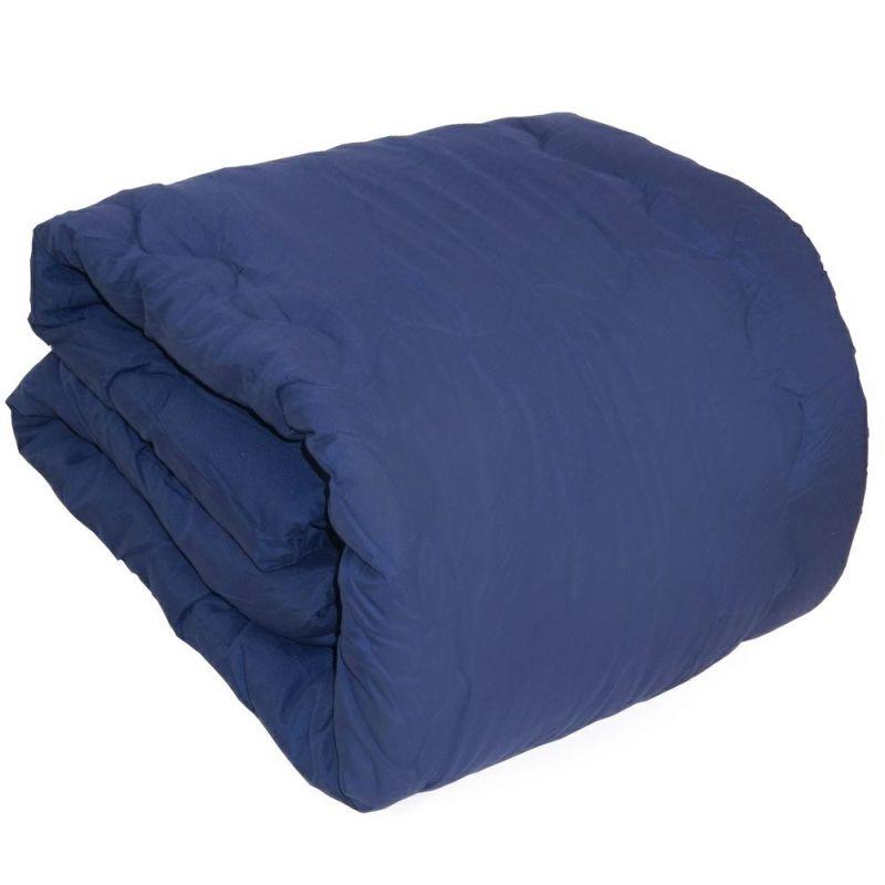 人気のシンサレートを使用した暖かい掛け布団のシングルサイズ ネイビー