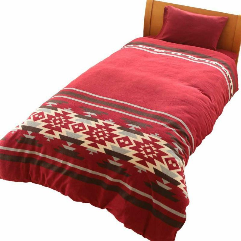 人気の暖かい掛け布団カバー ポーラーベア ネイビー