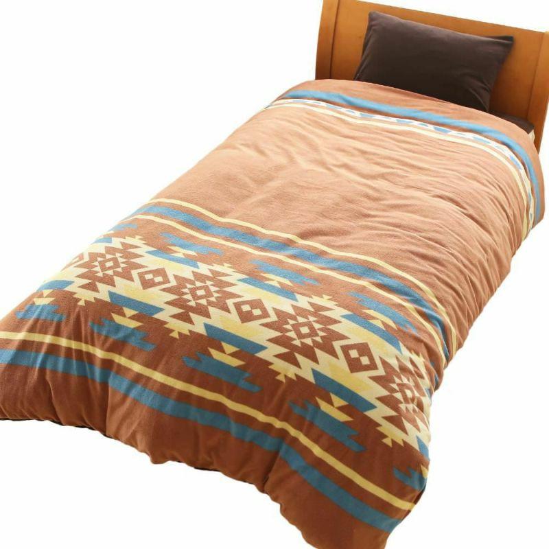 人気の暖かい掛け布団カバー トナカイ2 ブラウン