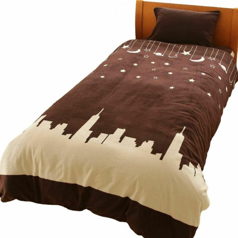 人気の暖かい掛け布団カバー トナカイ2 ネイビー