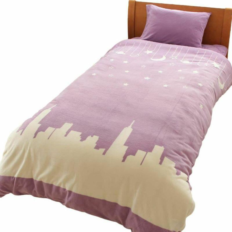 人気の暖かい掛け布団カバー トナカイ2 グレー
