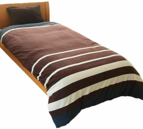 人気の暖かい掛け布団カバー 限定カラー ボーダー レッド シングル
