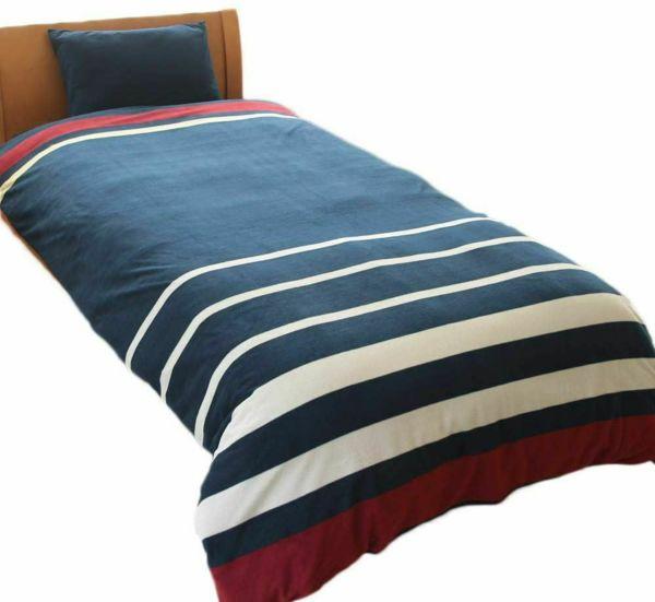 人気の暖かい掛け布団カバー 限定カラー ボーダー ココア シングル