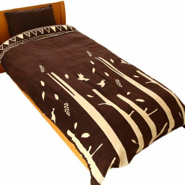 人気の暖かい掛け布団カバー 限定カラー フォレスト レッド シングル