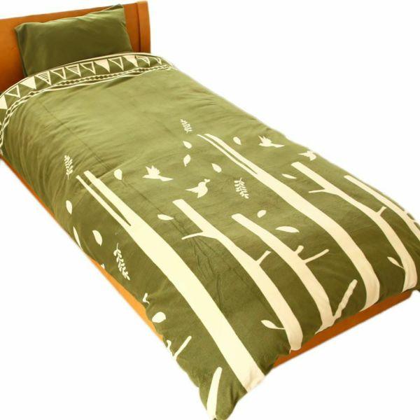 人気の暖かい掛け布団カバー 限定カラー フォレスト グレー シングル